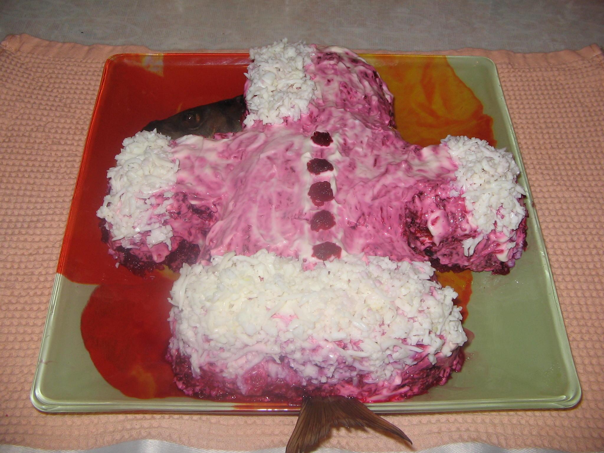 Как украсить салат селедка под шубой своими руками 2018