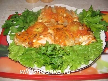 Рецепт приготовления горбуши с сыром в духовке