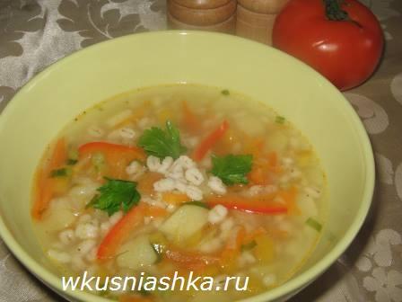 суп для ребенка с перловкой рецепт