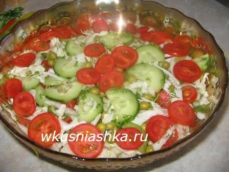 рецепт постного салата