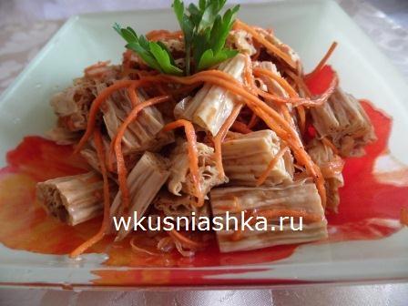 спаржа с морковкой по корейски
