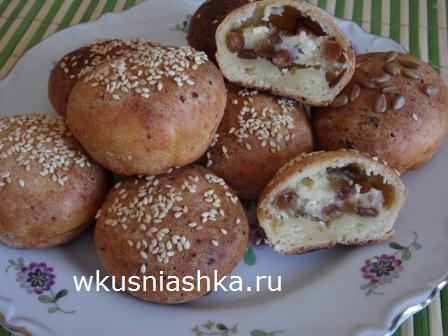 рецепт творожных булочек