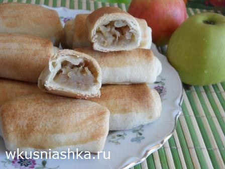 пирожки с яблоками без дрожжей