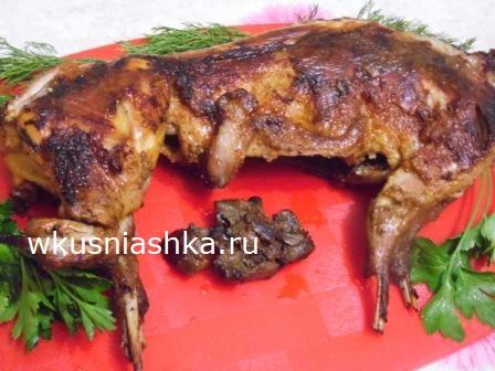 рецепт кролика в духовке в рукаве