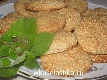 печенье из кунжута рецепт