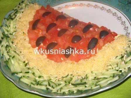 салат арбуз рецепт с фото