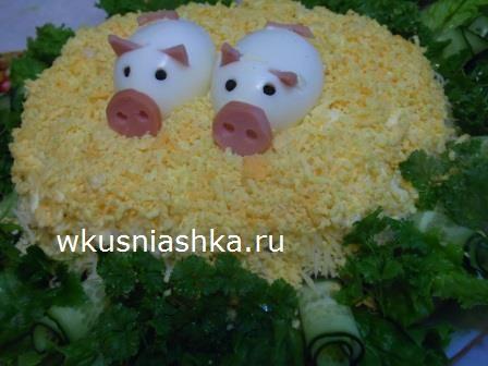 салат с курицей на новый год
