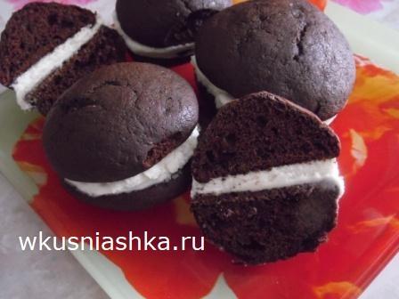 рецепт шоколадного печенья вупи-пай